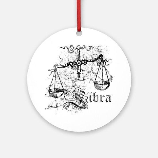 Worn Zodiac Libra Ornament (Round)