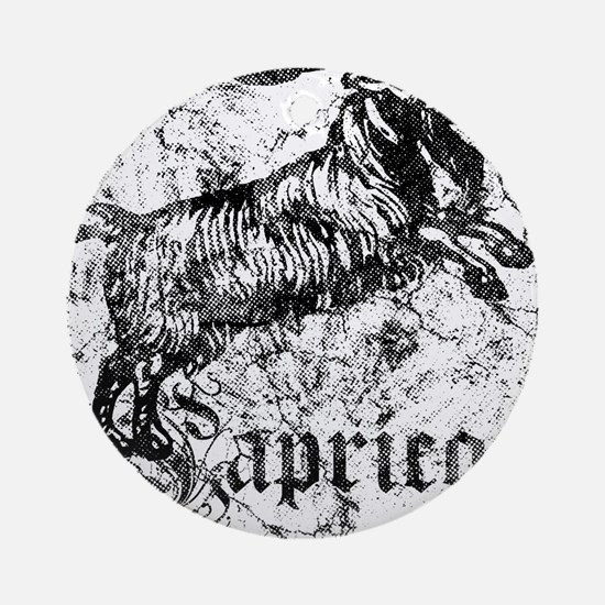 Worn Zodiac Capricorn Ornament (Round)