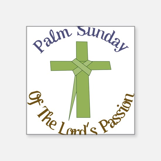 "Palm Sunday Square Sticker 3"" x 3"""
