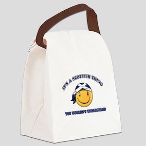 Scottish Smiley Designs Canvas Lunch Bag