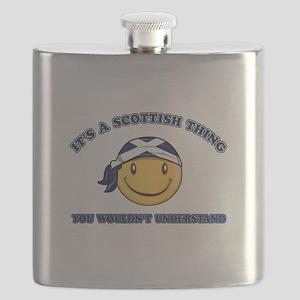 Scottish Smiley Designs Flask