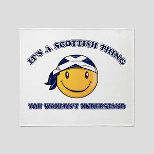 Scottish Smiley Designs Throw Blanket