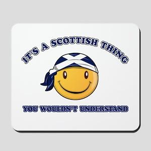Scottish Smiley Designs Mousepad