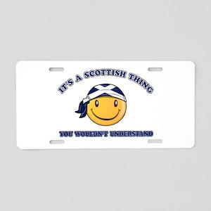 Scottish Smiley Designs Aluminum License Plate