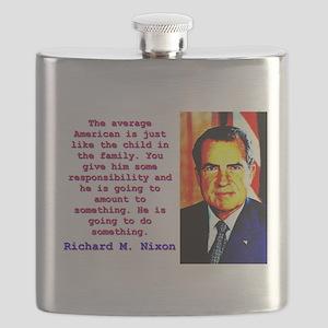 The Average American - Richard Nixon Flask