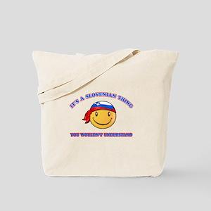 Slovenian Smiley Designs Tote Bag
