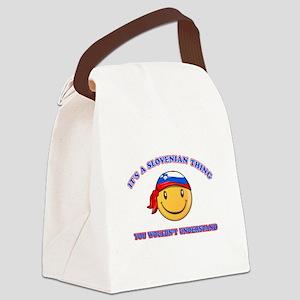 Slovenian Smiley Designs Canvas Lunch Bag
