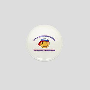 Slovenian Smiley Designs Mini Button