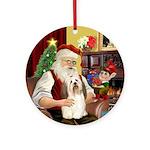 Santa's Havanese (1) Ornament (Round)