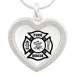Fire Rescue Silver Heart Necklace