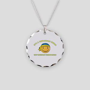 Ukrainian Smiley Designs Necklace Circle Charm