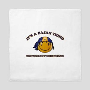 Bajan Smiley Designs Queen Duvet