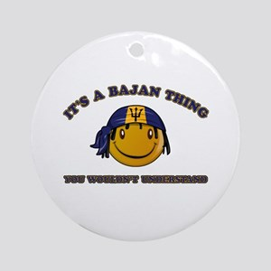 Bajan Smiley Designs Ornament (Round)