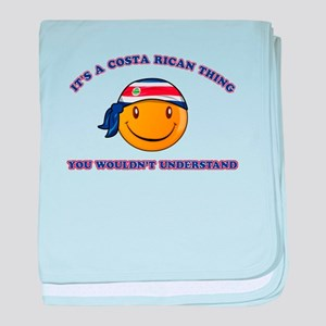 Costa Rican Smiley Designs baby blanket