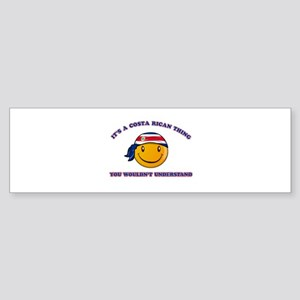 Costa Rican Smiley Designs Sticker (Bumper)