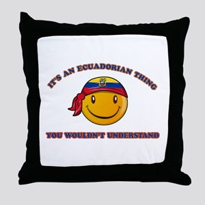 Ecuadorian Smiley Designs Throw Pillow