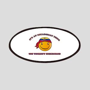 Ecuadorian Smiley Designs Patches