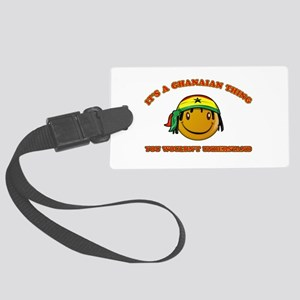 Ghanaian Smiley Designs Large Luggage Tag