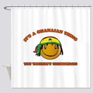 Ghanaian Smiley Designs Shower Curtain