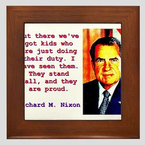 Out There We've Got Kids - Richard Nixon Frame