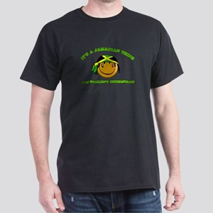 Jamaican Smiley Designs Dark T-Shirt