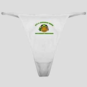 Jamaican Smiley Designs Classic Thong