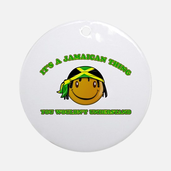 Jamaican Smiley Designs Ornament (Round)