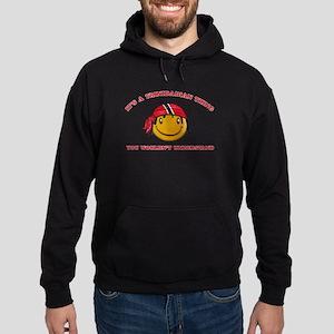 Trinidadian Smiley Designs Hoodie (dark)