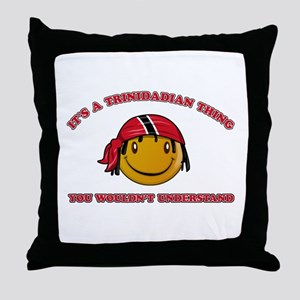 Trinidadian Smiley Designs Throw Pillow