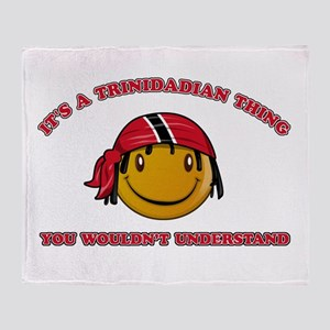 Trinidadian Smiley Designs Throw Blanket