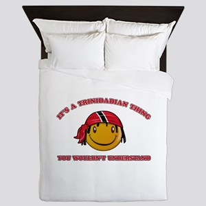 Trinidadian Smiley Designs Queen Duvet
