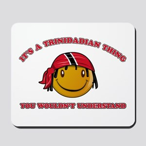 Trinidadian Smiley Designs Mousepad