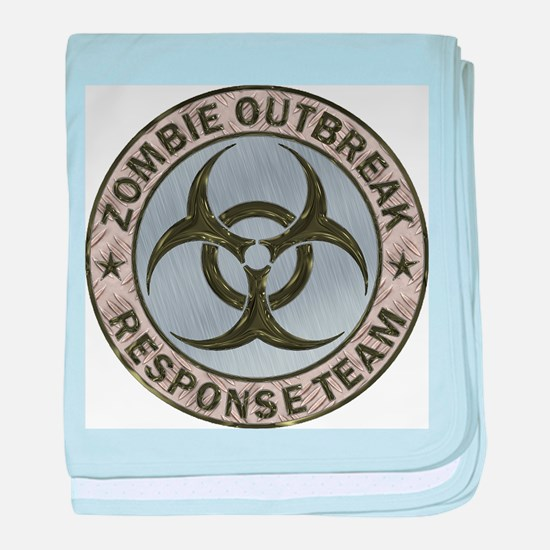 Zombie Response Team Color baby blanket
