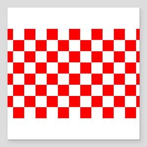 "Croatian Sensation Square Car Magnet 3"" x 3"""
