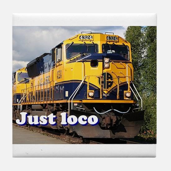 Just loco: Alaska locomotive Tile Coaster