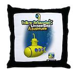 Yellow Submarine Undersea Adventure Throw Pillow