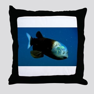 Pacific Barrel-Eye Fish Throw Pillow