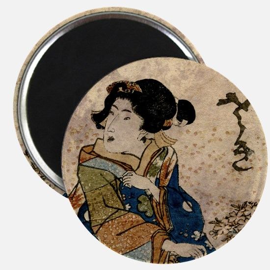 Vintage Japanese Art Woman Magnet
