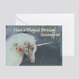 Goddaughter Unicorn Birthday Card Magical Birthday