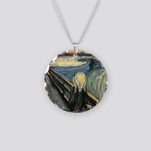 The Scream Necklace Circle Charm