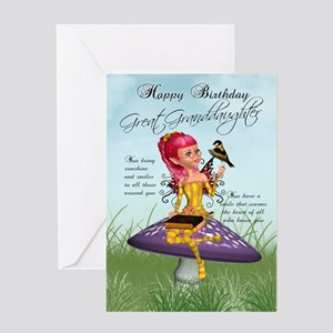 Great granddaughter fairy birthday greeting cards cafepress great granddaughter fairy birthday card m4hsunfo