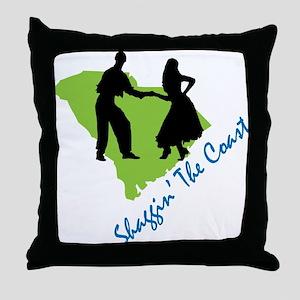 Shaggin The Coast Throw Pillow