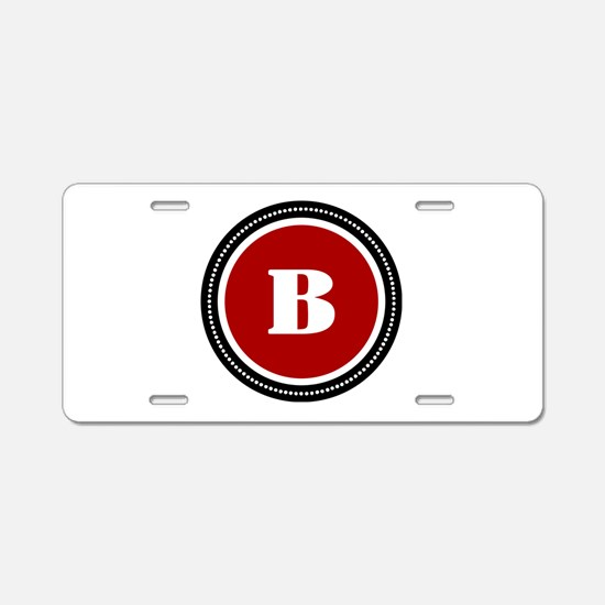 Red Aluminum License Plate