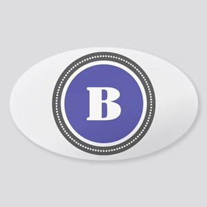 Blue Sticker (Oval)