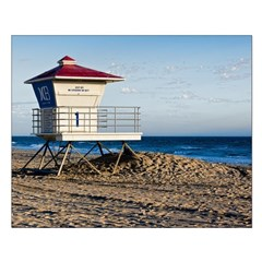 Scenic HDR Huntington Beach Lifeguard Tower Posters