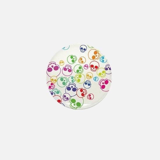 Jumble Of Sugar Skulls Mini Button