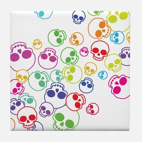 Jumble Of Sugar Skulls Tile Coaster