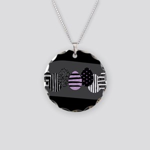 Gothic Easter Eggs Necklace Circle Charm