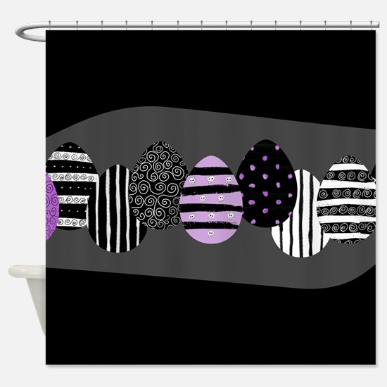 Gothic Easter Eggs Shower Curtain