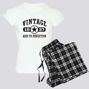 Vintage 1937 Women's Light Pajamas